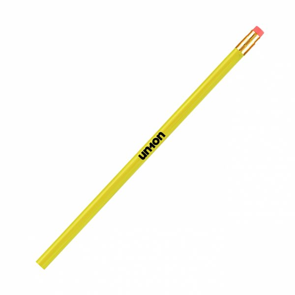 Neon Wooden Pencil - Yellow