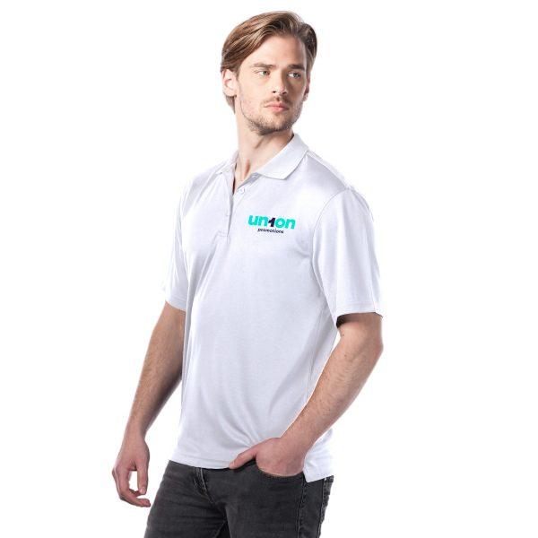 Mens Golf Polo - White